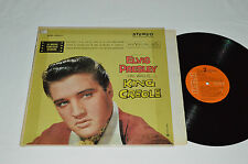 ELVIS PRESLEY King Creole LP LPE 1884 RCA Orange Labels Made in Canada G+/G+