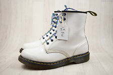 Dr Martens Doc Martens DM White Leather 8 Eye Boots UK 8