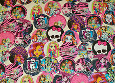 "SET of 56- 1"" PRECUT ""MONSTER HIGH"" BOTTLE CAP IMAGES. Hairbows, Scrapbooking."