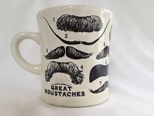 FAMOUS FACIAL HAIR - GREAT MOUSTACHES TRIVIA MUG - Ceramic Coffee mug