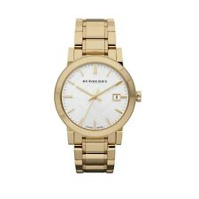Burberry BU9003 The City Swiss Gold Watch Large Mens 38mm AUTHENTIC BRAND NEW