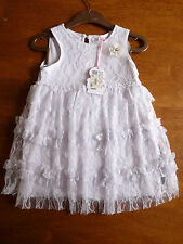 MISS GRANT WHITE LACE BABY DRESS   12M   RET £65     BNWT