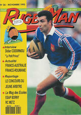 FRANCE - RUGBY MAN No 26 Nov 1993 OFFICIAL FFR MAGAZINE FOR THE YOUNGER READER