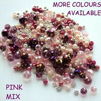 CHOOSE COLOUR 6-10MM CRYSTAL RONDELLE BEAD MIXES + SPACER BEADS JEWELLERY MAKING