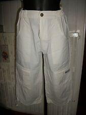 Pantalon court Pantacourt coton blanc BLANC DU NIL XS 34/36 16ET29