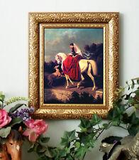 Sidesaddle LADY n RED DeDreux Arabian Horse Print Antiqu Framed 11X13