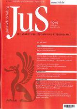 JuS Juristische Schulung 11/2016, Zeitschrift für Studium und Referendariat