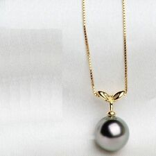 NEW HOT Huge AAA 16mm Black South Sea Shell Pearl Pendant Necklace