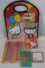 Hello Kitty Pens Lunch Sack Journal Sticky Notes CHRISTMAS GIFT FREE SHIPPING