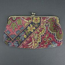 Vintage Ronay New York Tapestry Carpet Hand Bag Metal Clasp Purse