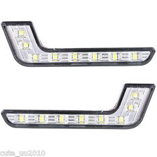 Car Auto 2x Daytime Running Light 8LED DRL Fog Driving Daylight White Head Lamp