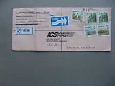 ZIMBABWE, R-cover to the USA 1998, rich franking ao mining