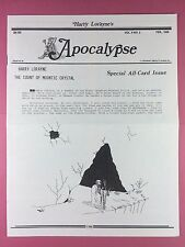 Harry Lorayne's APOCALYPSE - Magicians Newsletter  Vol.9 / No.2 - 1986 - Magic