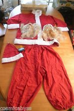 1950's-60's VINTAGE Santa Clause outfit suit with beard and hat SEARS Christmas