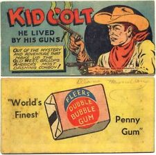 1950 RARE WISCO VITAL GIVEAWAY PROMO MINI COMIC KID COLT HE LIVED BY HIS GUNS F+