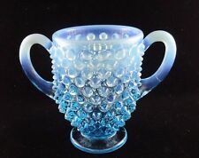 VINTAGE FENTON OPALESCENT BLUE HOBNAIL GLASS  SUGAR BOWL ONLY