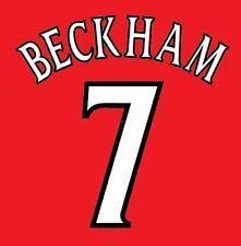 Beckham 7 Manchester United 1999-2000 champions league Football Nameset 4 shirt