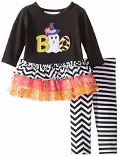 NWT Bonnie Jean Baby Halloween Ghost Tutu Holiday Outfit Set Size 3-6 Months $52