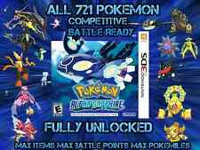 Unlocked Pokemon Alpha Sapphire All 721 Shiny All Items Max Money And More