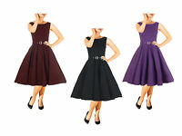 NEW CLASSY AUDREY VINTAGE 1950's ROCKABILLY PINUP SWING EVENING DRESS HEPBURN