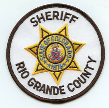 RIO GRANDE COUNTY COLORADO CO round SHERIFF POLICE PATCH