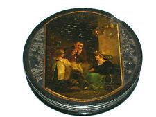 Antike Lackdose Stobwasser Miniatur Pappmachee um 1820