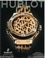 Publicité Advertising 2012 La Montre Hublot Big Bang Leopard