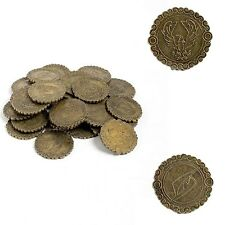 Set Of 20 Copper Look Coins With Eagle Insignia - Costume / Theatre Or LARP