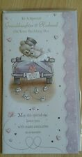 Granddaughter and husband wedding day card ~ just married