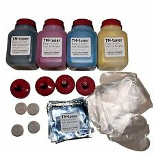 4 Color HY Toner refill kit w/ chips & plugs for Oki Okidata C110 C130 MC160N