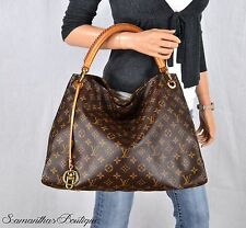 LOUIS VUITTON ARTSY MM MONOGRAM LEATHER LARGE SHOULDER BAG SATCHEL PURSE HANDBAG