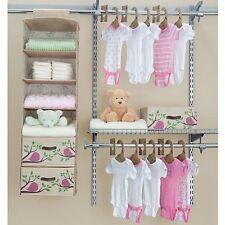Baby Infant Child Bedroom Bed Room Closet Organizer Diaper Clothes Storage Shelf