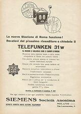 Y1128 Telefunken 31 w - Il nuovo 3 valvole - Pubblicità 1930 - Advertising