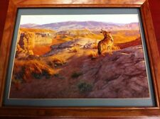 coyote in the rimrock hunting picture ready to hang on the wall great picture