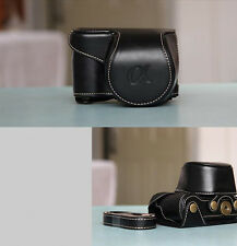 For Sony Alpha A6000 With 16-50mm Lens Leather Camera case bag black hot new