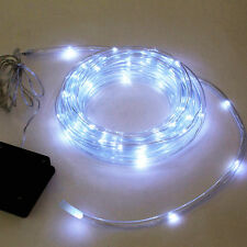 40ft Long Solar Rope Light 100 Bright White LED Lamps Tube Lights  Waterproof NS