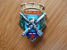 INSIGNE MILITAIRE Pucelle Armée Arthus Bertrand 54° RA rég artillerie