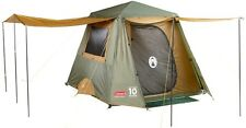 Coleman Instant Up 4 Person Outdoor Camping & Hiking Gold Tent Full Fly