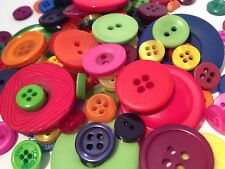 50g ASSORTED BRIGHT CANDY COLOUR BULK BUTTON MIX, ARTS CRAFTS SCRAPBOOKS SEWING