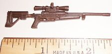 BIN A9  G I JOE Accessory  Brown Sniper Rifle Gun ( 2003 Tunnel Rat)( Var Figs)