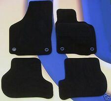 VW GOLF MK5 2004 ON BLACK CARPET CAR MATS WITH 4 ROUND LOCATOR CLIPS