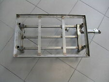 BRUCIATORE GAS-BARBECUE-3 canne inox c/piota 50x30