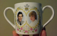 PRINCESS DIANA ROYAL WEDDING RARE CROWN TWO HANDLE CUP 1981 PRINCE CHARLES VGC
