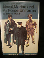 """Book """"Naval Marine & Air Force Uniforms of WW II"""" pictures wording USA Eng Ger"""