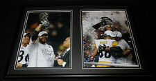 Jerome Bettis Framed 12x18 Photo Display Steelers Super Bowl XL w/ Trophy