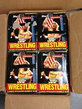 UNOPENED BOX 1987 TOPPS WRESTLING CARDS STICKER FROM CASE HULK HOGAN WWF