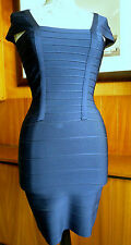 Herve Leger bandage dress in navy blue size L