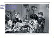 Bund für Mutterschutz Berlin XL Kunstdruck 1910 Frauenhaus Mutter und Kind