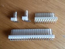 "5 off 7 Way 90° Pin PCB Headers 0.1"" (2.54mm) Connectors  KK"