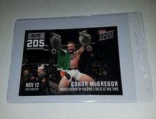 Topps NOW UFC 205-A Conor McGregor Makes History by Holding 2 Belts at One Time